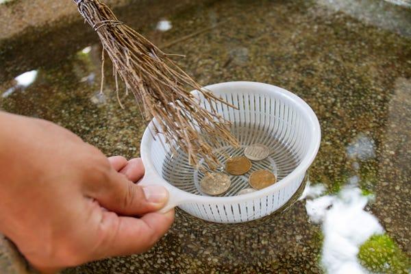 お金を洗う