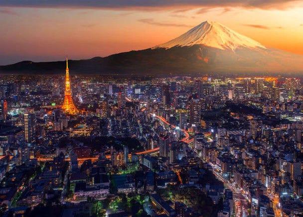 도쿄에서 후지산에 가지 않고도 후지산을 바로볼 수 있다면?