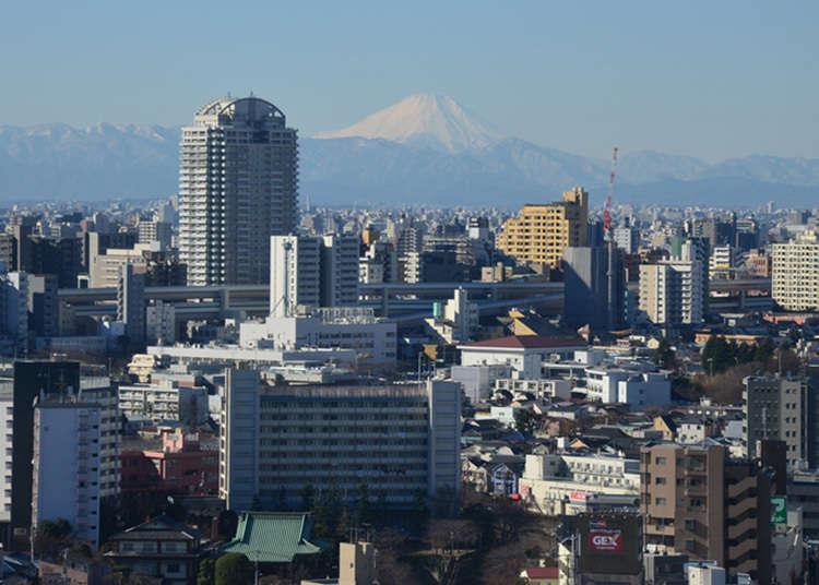 食事をしながら富士山の景色を楽しめる地上17階のレストラン「山海亭」