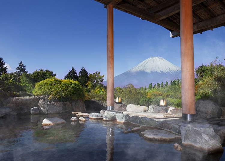 Alami rotenburo (kolam air panas terbuka) sambil menikmati pemandangan Gunung Fuji!