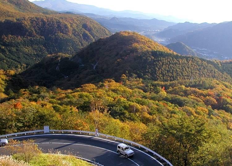適合自駕觀賞沿途自然美景的伊呂波坂