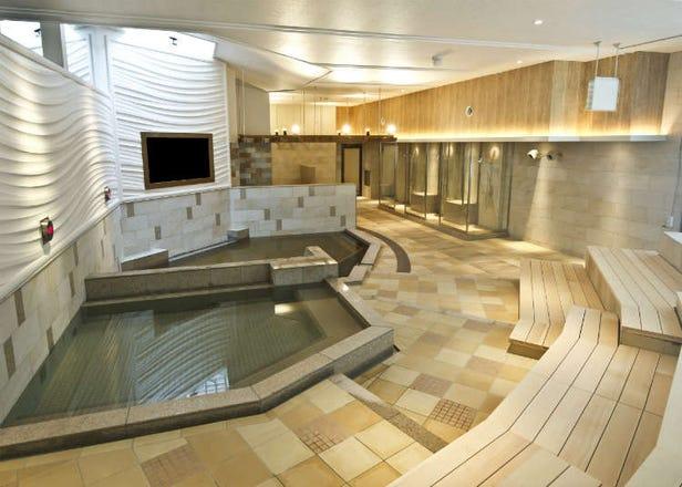 Melawat tempat mandi air panas di sekitar Lapangan Terbang Haneda dalam waktu yang terluang semasa menunggu masa perlepasan dan ketibaan penerbangan.