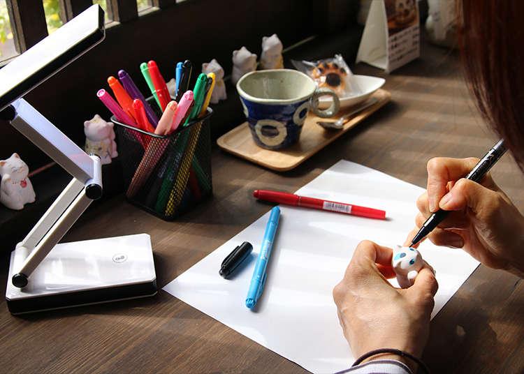 一边享用甜点一边体验作画的乐趣