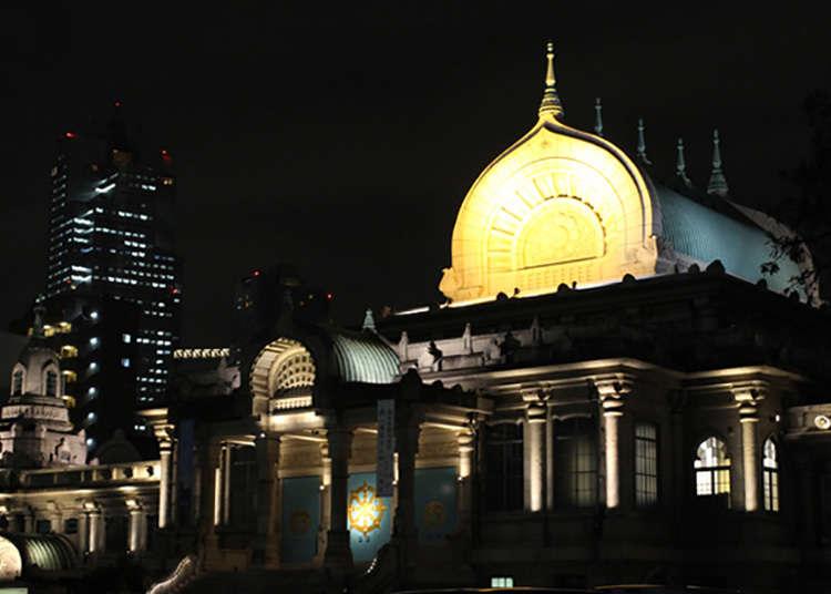 Kuil yang Diberi Pencahayaan pada Malam Hari