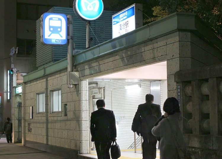 帰りは日比谷線の「築地駅」が目の前に