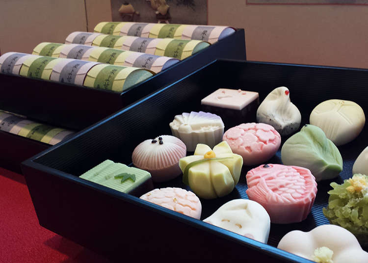 Stores Featuring Unbaked Japanese Sweets in a Variety of Colors