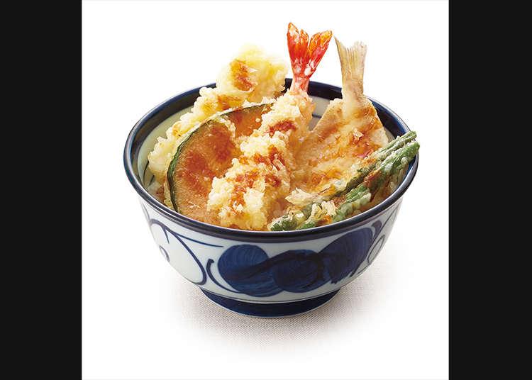 바삭바삭하고 따끈따끈한 덴돈(튀김 덮밥)