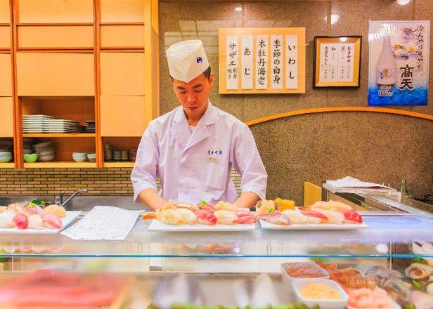 東京で食べる寿司