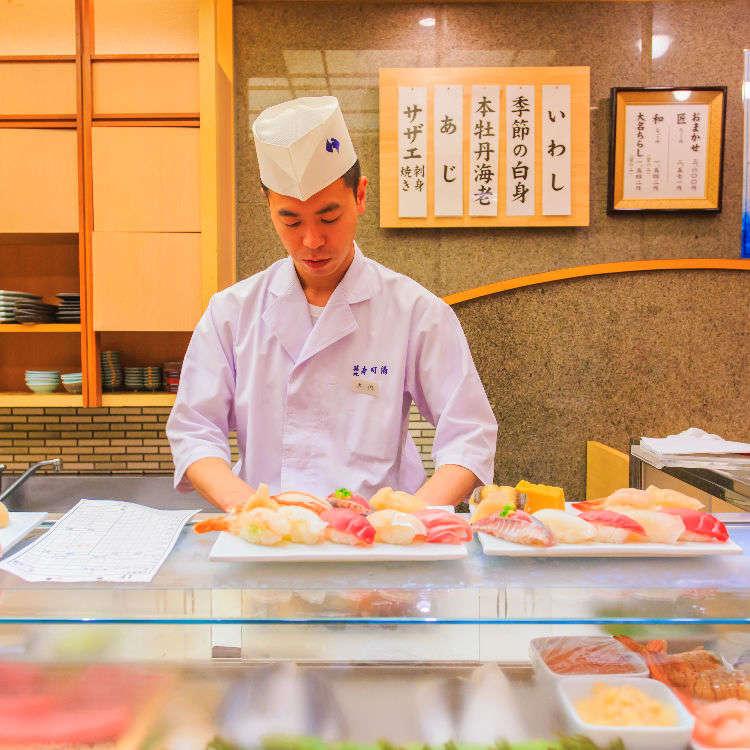 在东京吃寿司