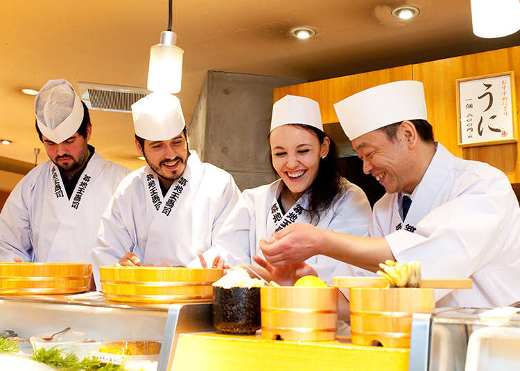 3. Eat your sushi - then make it too! A nigiri workshop is available at Tsukiji Tama Sushi
