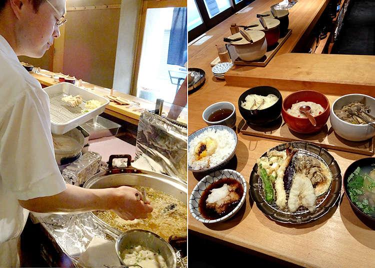 Kaneko Hannosuke's super popular tempura set