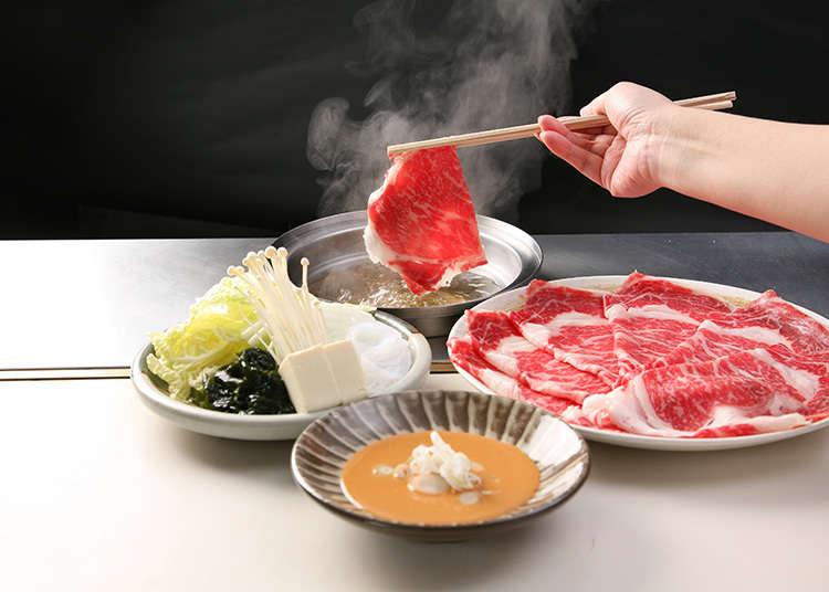 在「 Shyabusen」的套餐中能品嚐日本