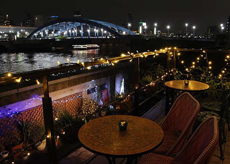 "Menikmati pemandangan Sungai Sumida dari ""MEURSAULT"""