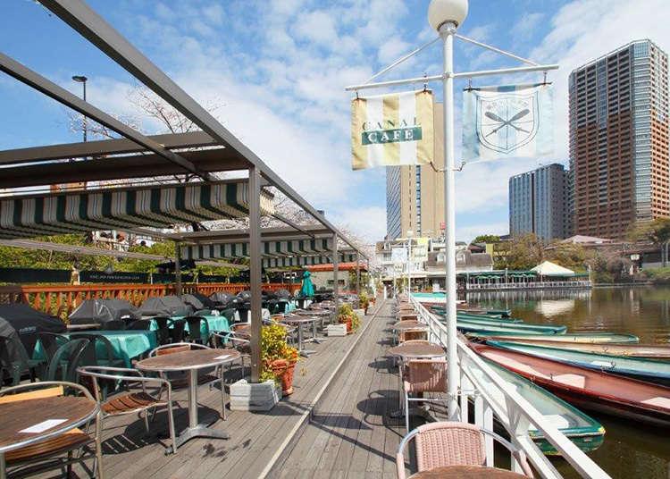 可以感受到東京四季風情的水上露天咖啡廳