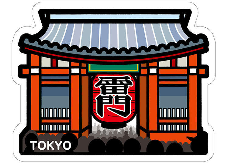 "Regional form card (poskad) ""Kaminarimon"""