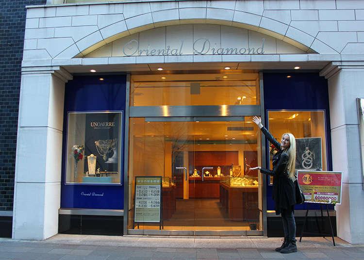 日本製のダイヤモンド店へ