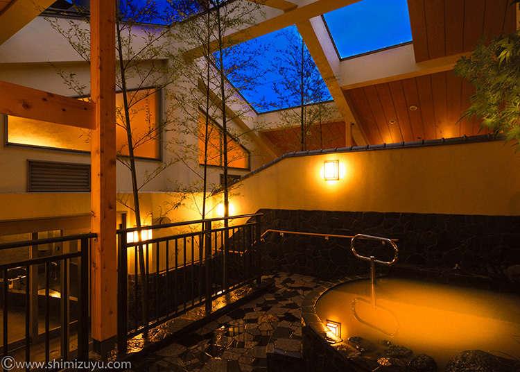享受兩種天然溫泉