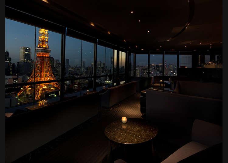 도쿄 타워를 여러 각도에서 감상하다