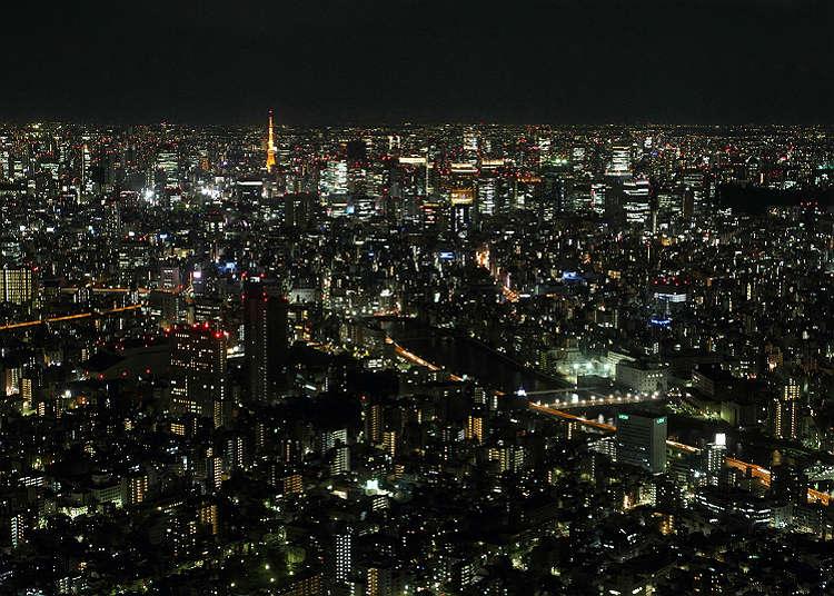 오후 19:00 도쿄의 야경 감상