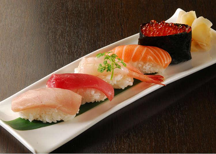 12:00 tengah hari. Masakan Jepun untuk makan tengah hari
