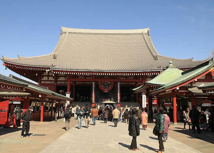首先先去象徵淺草的「淺草寺」吧!