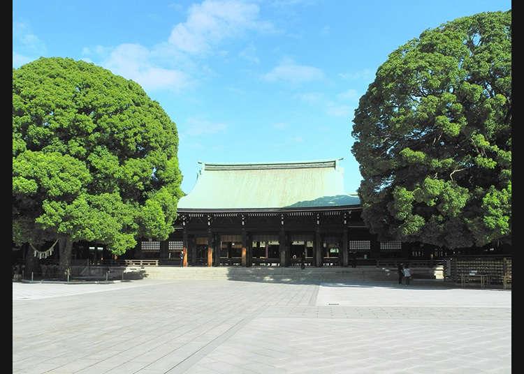 Go to the Honden (Main Shrine Building) where the Kami Reside