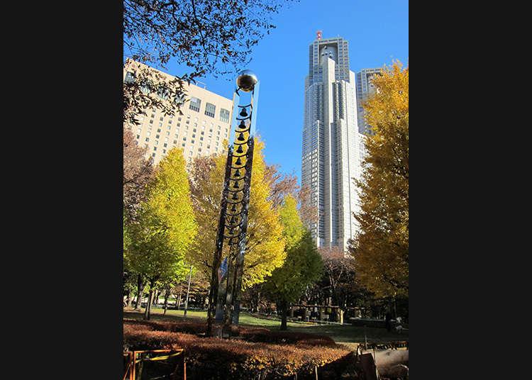 在新宿中央公园悠闲放松