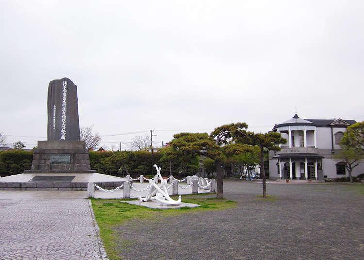 ペリー来航を記念した記念碑がある公園