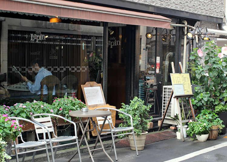 """前往步行1分钟的纯咖啡馆""""cafe Lapin"""""""