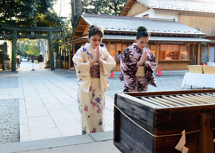 Melawat ke kuil Shinto untuk merasai pengalaman budaya tradisional Jepun
