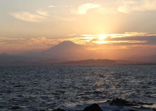 A Mountain Sunset Like Never Before at Japan's Hidden Enoshima Island