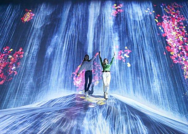 "1. Enjoy a Borderless World of Art from ""teamLab Borderless"" in Odaiba Japan!"