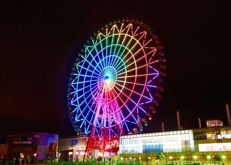 搭乘位於台場的日本最大「palette town摩天輪」飽覽東京市區景色吧!