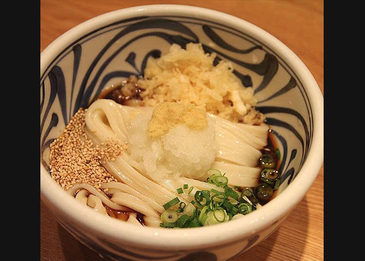 Special udon noodles at Sanuki-udon Nenotsu