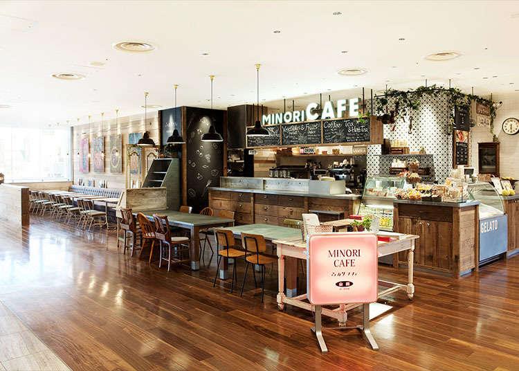 일본의 제철 음식을 맛볼 수 있는 '미노리 카페'