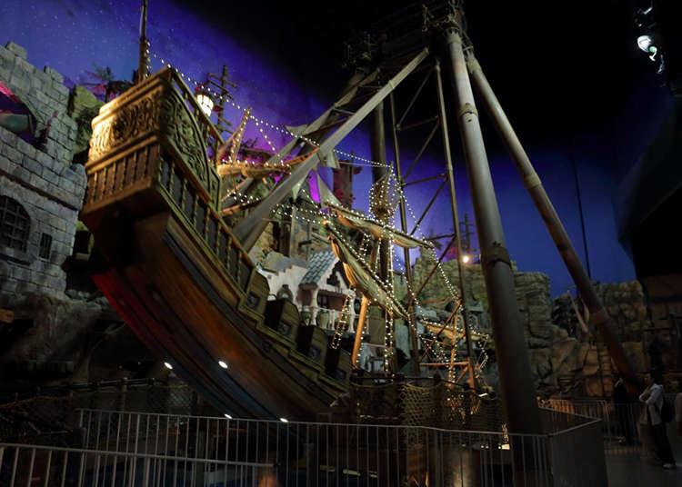 巨大な海賊船で無重力の世界を体験!