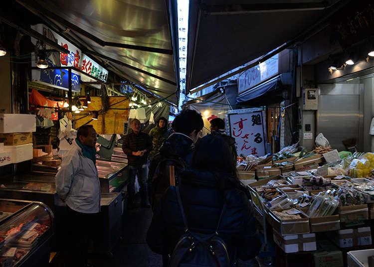 1. Explore the Tsukiji Outer Market with more than 400 stores