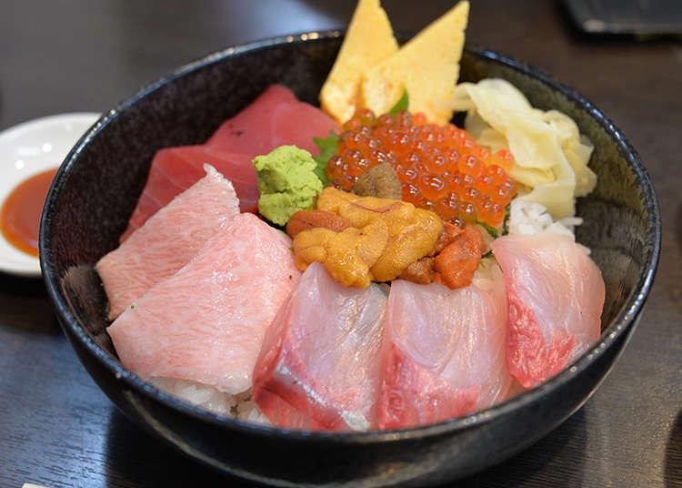 享受海鮮丼