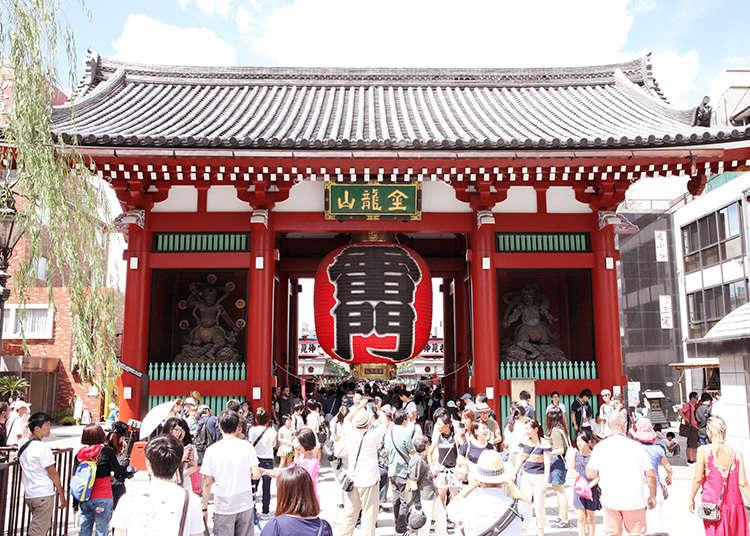 """""""Kaminarimon"""", Simbol Asakusa"""