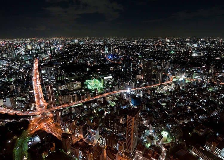 도쿄의 중심에서 거리를 감상하자!