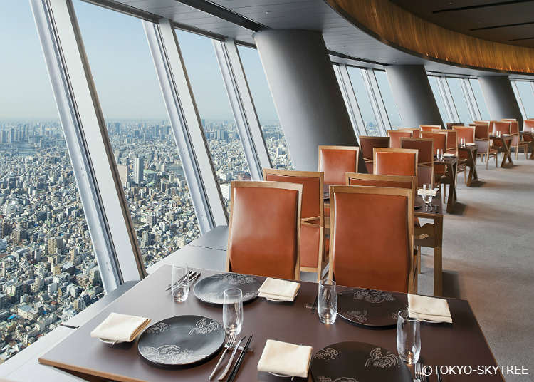6. Tokyo Skytree Restaurants: Enjoy a Meal at Sky Restaurant 634