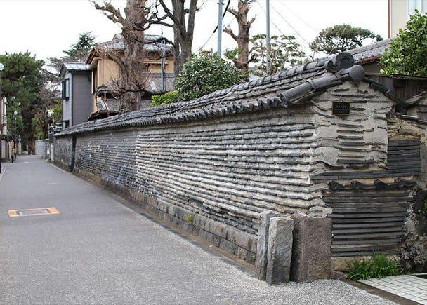 """传达谷中之寺町风情的""""筑地墙"""""""