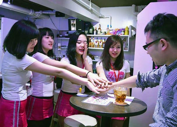 Izakaya (pub) Cheer Girl yang menyeronokkan walaupun pergi bersendirian.