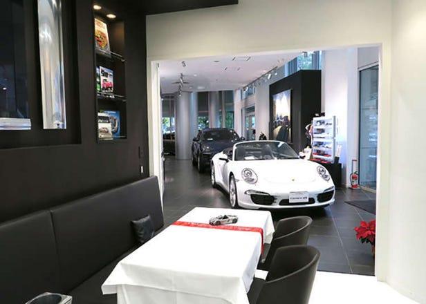 """도쿄카페 -  """"세계 최초로 고급 수입차 포르쉐 옆에 앉아서 차를 마실 수 있는 카페"""" 역시 독특하다..."""