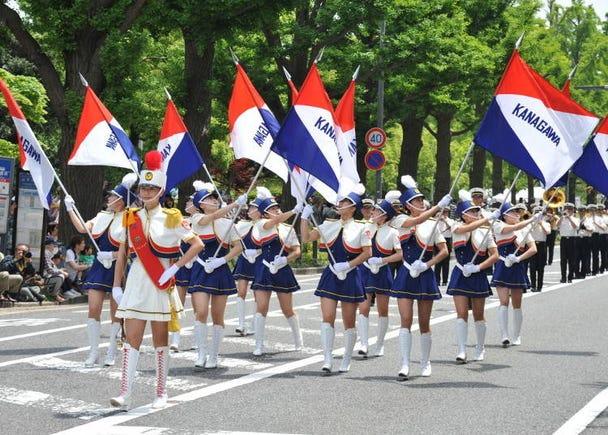 The Yokohama Parade held in the port city