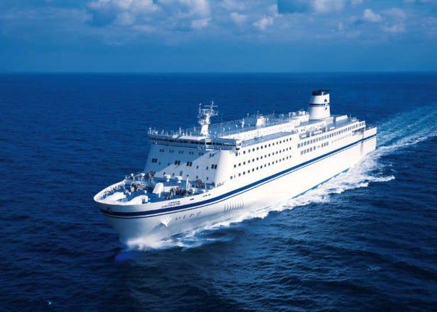 Feri, yakatabune (bot berbumbung) dan kapal pelayaran mewah di Jepun