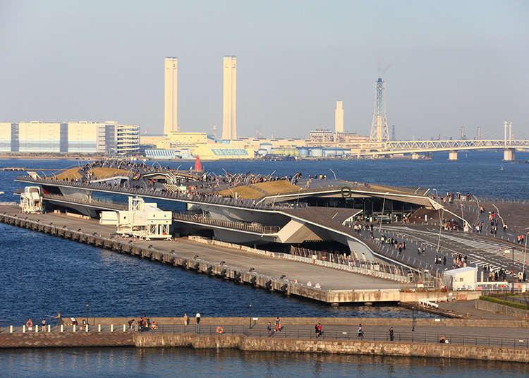 Terminal kapal antarabangsa Osanbashi di pelabuhan Yokohama