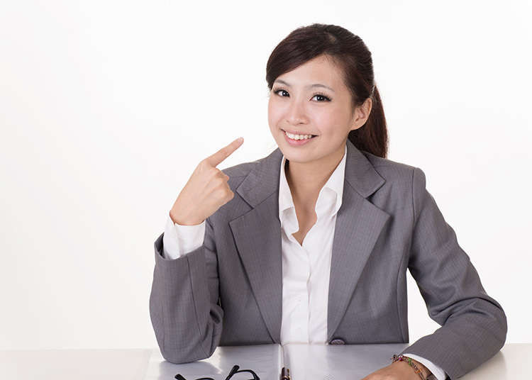 Japanese gestures: Pointing to yourself