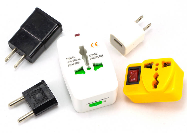 4. Electrical adapter and power bank