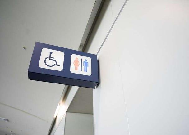 在設施裡會看到的符號・標誌
